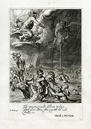 Antique Print-DELUGE-EARTH-FLOODING-ZEUS-Diepenbeek-bloemaert-mariette-1655