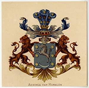 Antique Print-HERALDRY-COAT OF ARMS-AEBINGA VAN HUMALDA-Wenning-Rietstap-1883