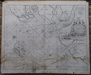 Antique Map-COASTAL MAP-ENGLAND-HARWICH-SEA CHART-Collins-Moll-c.1693