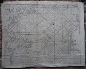 Antique Map-ATLANTIC OCEAN-SEA CHART-AZORES-CARIBBEAN-Seller-c.1750