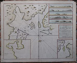 Antique Print-SEA CHART-ORKNEY ISLANDS-SHAPINSAY-GAIRSAY-WYRE-Collins-1693
