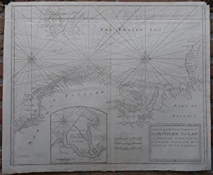 Antique Print-SEA CHART-BARENTS SEA-NORWAY-SVALBARD-NOVA ZEMBLA-Seller-Moll-1671