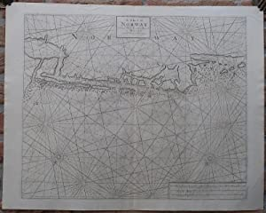 Antique Print-SEA CHART-NORWAY-TRONDHEIM-NAUTICAL-Thornton-1702
