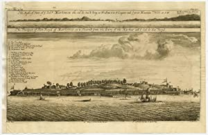 Antique Print-VIEW-FORT ROYAL-MARTINIQUE-Barbot-Churchill-Kip-1733