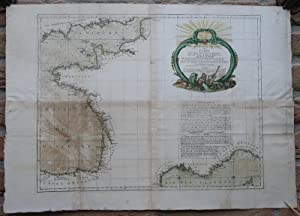 Antique Print-SEA CHART-FRANCE-CHANNEL-ENGLAND-SPAIN-Zannoni-Desnos-1778
