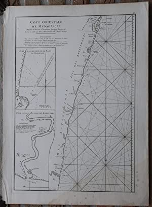 Antique Print-SEA CHART-AFRICA-MADAGASCAR-MANANJARY-Grenier-Mannevillette-1775