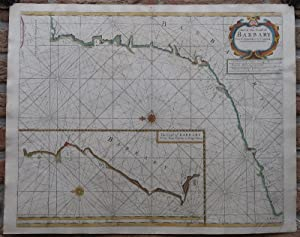 Antique Print-SEA CHART-AFRICA-MOROCCO-TANGER-ESSAOUIRA-Thronton-1707