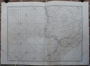Antique Print-SEA CHART-SPAIN-PORTUGAL-MOROCCO-Mannevillette-1775