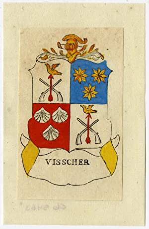 Antique Print-VISSCHER-VISSER-COAT OF ARMS-Ferwerda-1781
