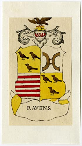 Antique Print-RAVENS-COAT OF ARMS-Ferwerda-1781