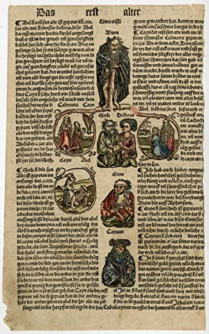 9 Rare Antique Prints-WELTCHRONIK-WORLD CHRONICLE-LINEAGE CHRIST-Schedel-1500