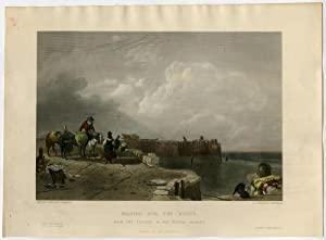 Antique Print-WAITING FOR THE BOATS-COAST-SEA-Callcott-Kernot-c. 1850