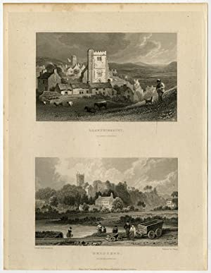 Antique Print-WALES-LLANTRISSAINT-BRIDGEND-GLANMORGANSHIRE-Gastineau-Tingle-1831