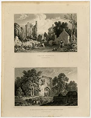 Antique Print-WALES-GLAMORGANSHIRE-COITY-ST.QUINTIN-Gastineau-Shepherd-1831