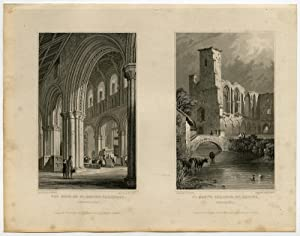 Antique Print-WALES-PEMBROKESHIRE-ST.DAVID'S CATHEDRAL-Gastineau-Deeble-1831