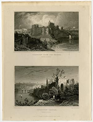 Antique Print-WALES-ENGLAND-MONMOUTHSHIRE-CHEPSTOW-Gastineau-Bond-1831