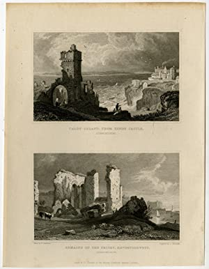 Antique Print-WALES-PEMBROKESHIRE-CALDY-HAVERFORDWEST-Gastineau-Hinchliffe-1831