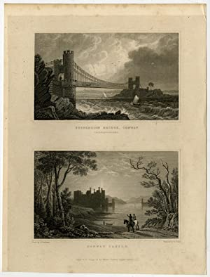 Antique Print-WALES-ENGLAND-CAERNARVONSHIRE-CONWAY-Gastineau-Fisher-1831