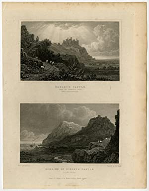 Antique Print-WALES-FLINTSHIRE-HARLECH CASTLE-DYSERTH-Gastineau-Varrall-1831