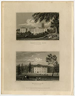 Antique Print-WALES-CLOUCESTERSHIRE-CIRENCESTER-BATSFORD-Neale-Fisher-1830