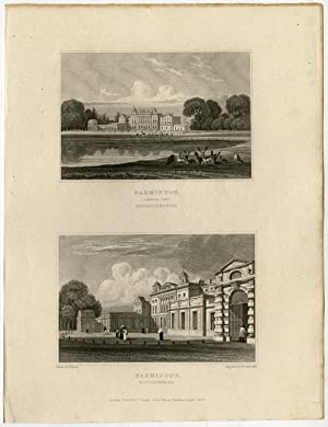 Antique Print-WALES-ENGLAND-GLOUCESTERSHIRE-BADMINTON-Bartlett-Radclyffe-1830