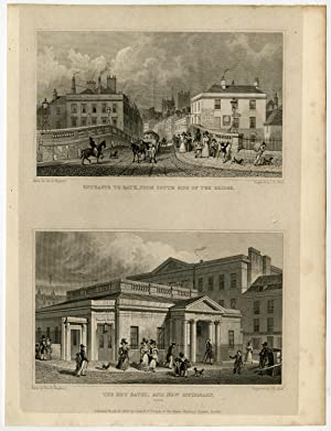 Antique Print-ENGLAND-BATH-HOT BATHS-INFIRMARY-Sheperd-Allen-1829