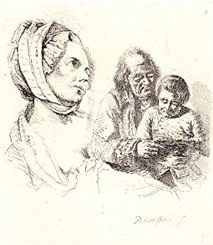 Antique Print-READING-FASHION-PORTRAIT-Boissieu-c. 1850