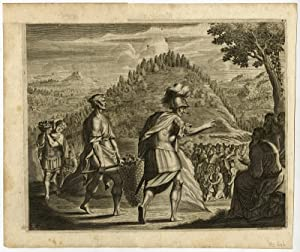 Antique Print-ROMAN SOLDIER-FOOD-HUNGRY CROWD-Wolfgang-1676