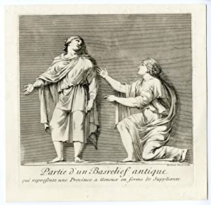 Antique Print-ROMAN ART-BEGGAR-BAS RELIEF-Barbault-1761
