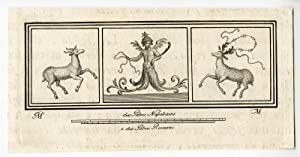 Antique Print-ROMAN ART-HERCULANEUM-DECORATION-DEER-MYTHOLOGY-Morghen-1757