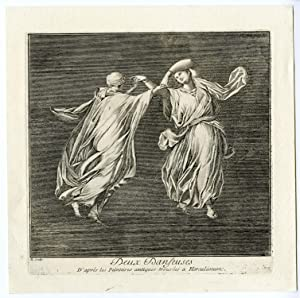 Antique Print-ROMAN ART-HERCULANEUM-DANCING WOMEN-Barbault-1761