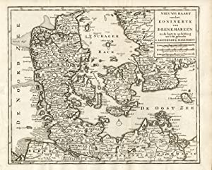 Antique Print-KINGDOM DENMARK-MAP-SKAGGERAK-BALTIC SEA-Keyser-1735