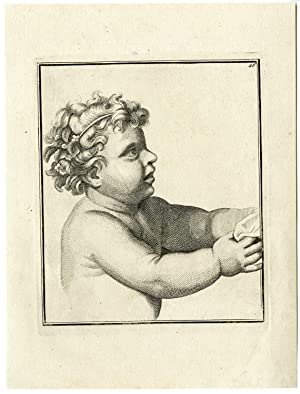 Antique Print-YOUNG CHILD-TODDLER-Anonymous-18th.c.