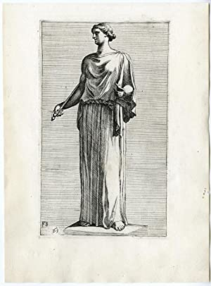 Antique Print-STATUE-ROME-MUSES-GREEK MYTHOLOGY-61-Perrier-1638