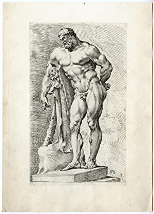 Antique Print-FARNESE HERCULES-STATUE-ROME-MYTHOLOGY-LION-LABOURS-3-Perrier-1638