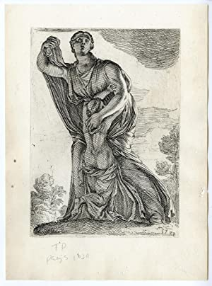 Antique Print-STATUE-NIOBE-GODDESS-DEITY-GREEK MYTHOLOGY-ART-57-Perrier-1638