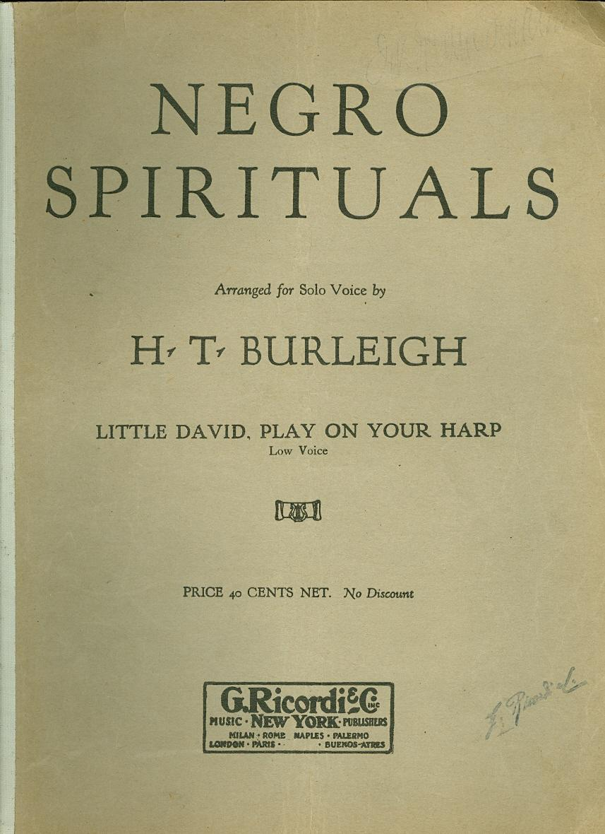 library of congress spirituals