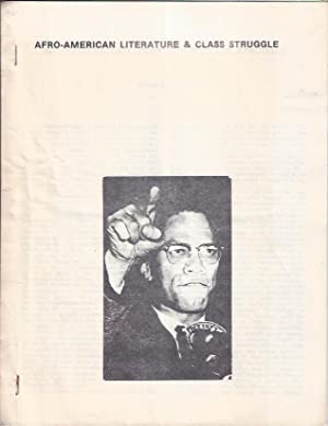 Afro-American Literature and Class Struggle: Baraka, Amiri