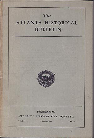 The Atlanta Historical Bulletin, October, 1939