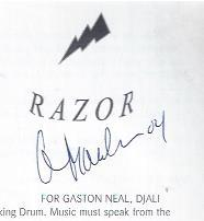 "Razor"" : Uncool 2001, Festival of International Contemporary Music: Baraka, Amiri & Blue Ark"