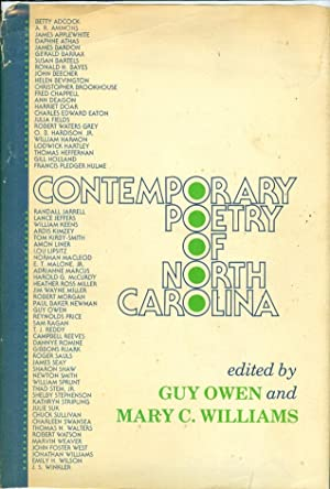 Contemporary Poetry of North Carolina: Owens, Guy and Mary C. Williams (Eds. )
