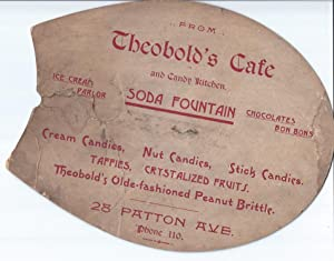 Theobold's Cafe and Candy Kitchen Advertising Fan: Theobold, L. M.