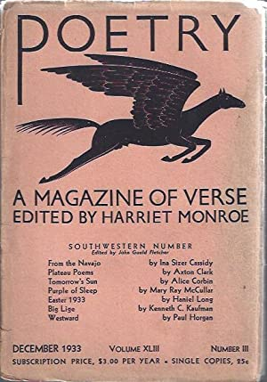 Poetry, a Magazine of Verse December, 1933: Fletcher, John Gould