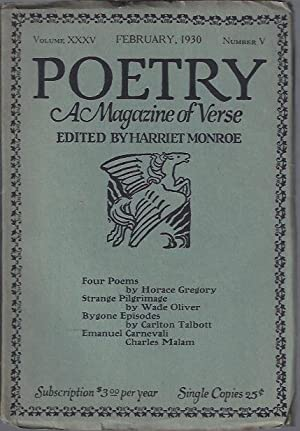 Poetry, a Magazine of Verse February, 1930: Monroe, Harriet (ed.)