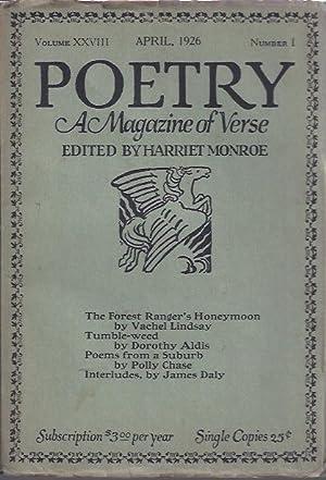 Poetry, a Magazine of Verse April, 1926: Monroe, Harriet (ed.)
