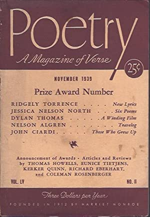 Poetry, a Magazine of Verse November, 1939: Dillon, George (ed.)