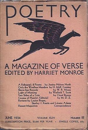 Poetry, a Magazine of Verse July, 1934: Monroe, Harriet (ed.)