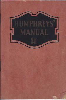 Humphrey's Manual on the Care and Treatment: Humphreys, Frederick, M.