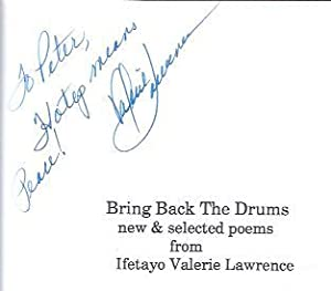 Bring Back the Drums: Lawrence, Ifetayo Valerie Williams