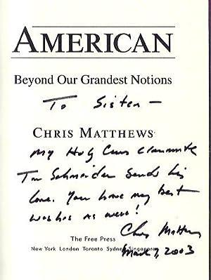 American Beyond Our Grandest Notions: Matthews, Chris